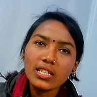 Close-up photograph of Gita Nepali