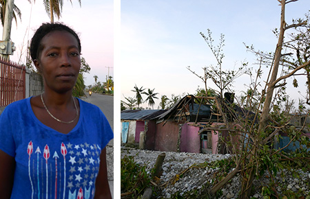 Roseline's home was destroyed by Hurricane Matthew