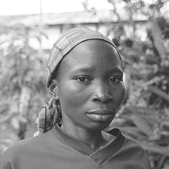 A close up of Angelique, from Democratic Republic of Congo.