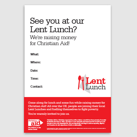 Lent lunch poster