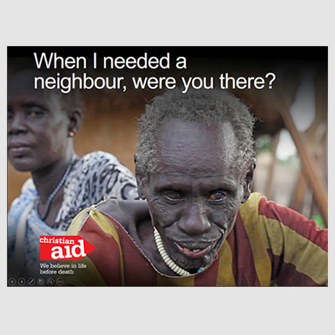 A still of Michael, whose story is the focus of Christian Aid's 2017 Lent/Easter Appeal