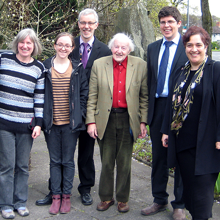 The Christian Aid Wales team with Chief Executive, Loretta Minghella