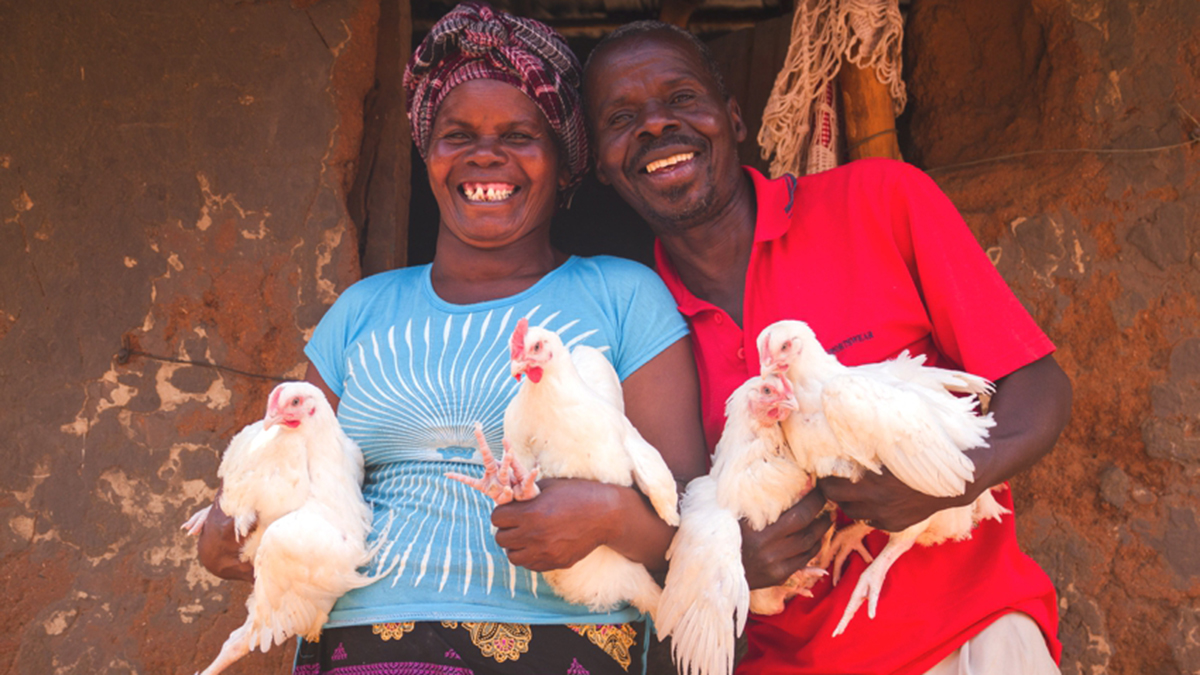 Mina Sakala Mwale with her husband Boniface Mwale are beneficiaries of JCP's economic empowerment programme in Chipata, Zambia.