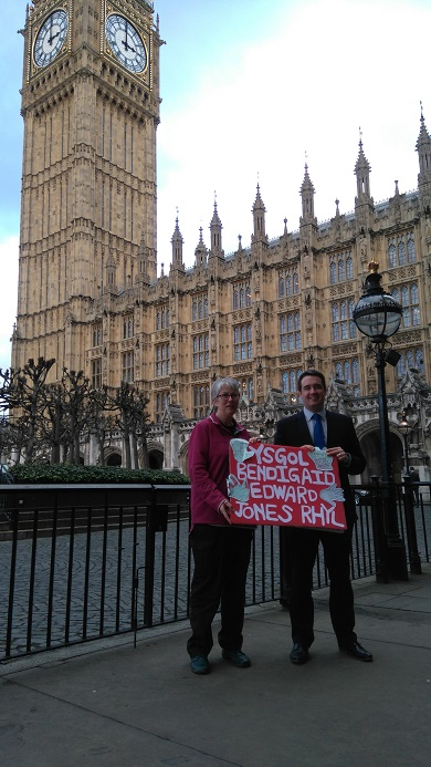 Anna Jane Evans and James Davies at Westminster