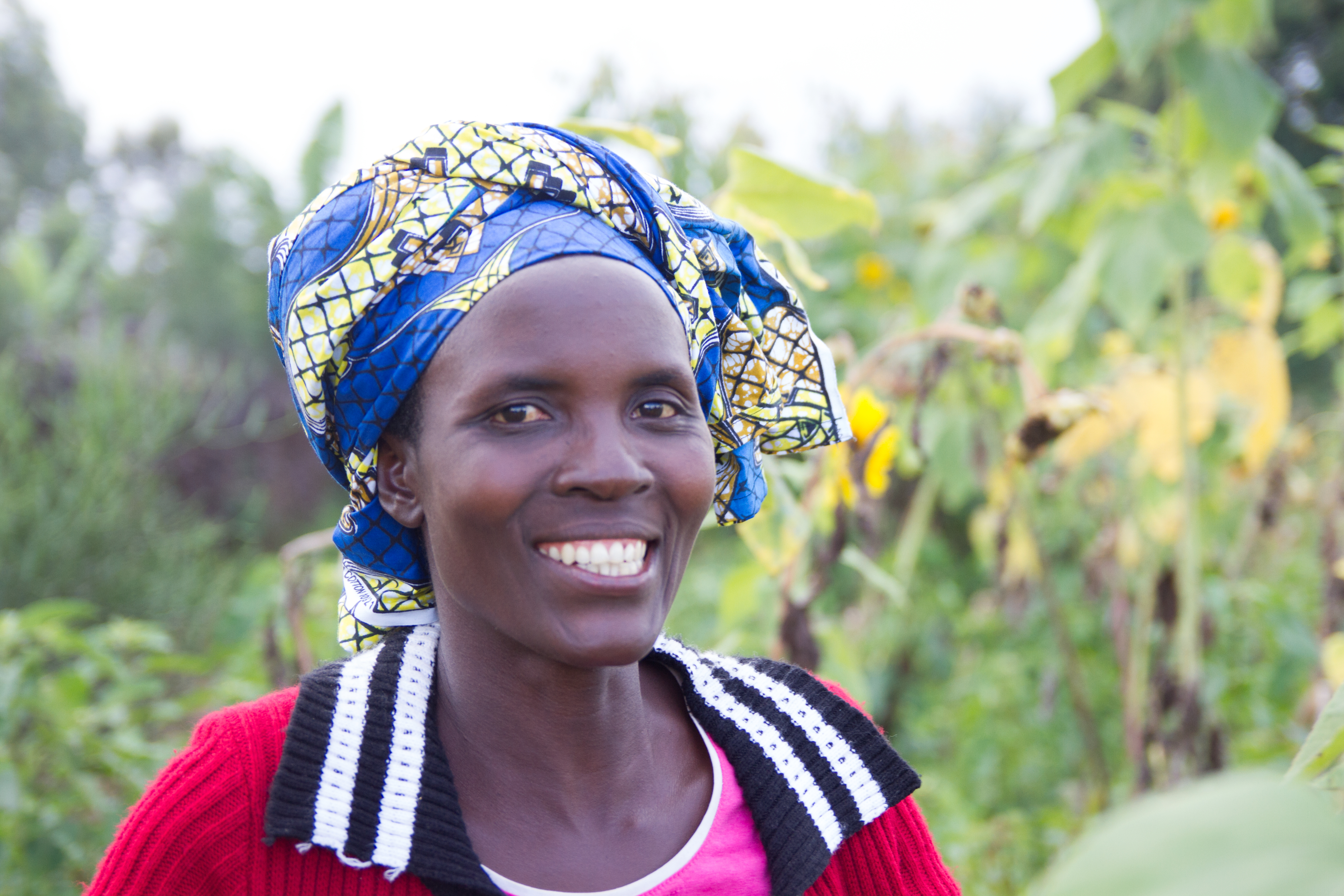 Jacqueline, a sunflower seed and vegetable farmer from Burundi