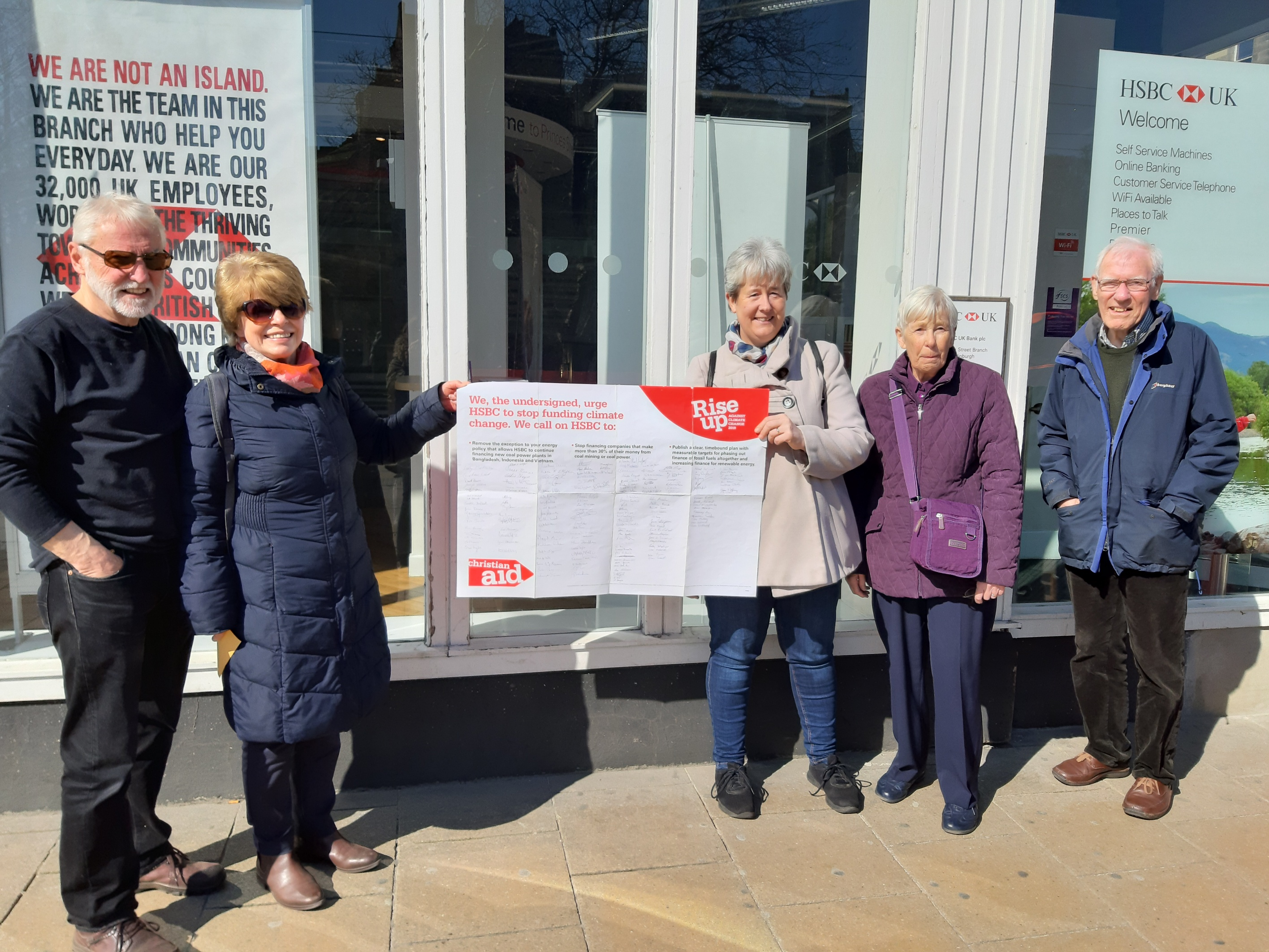 HSBC Bank Visits | Christian Aid