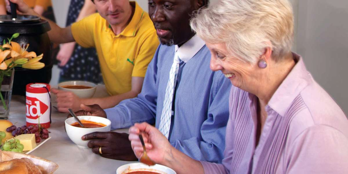 Supporters enjoy a Lent lunch in aid of Christian Aid