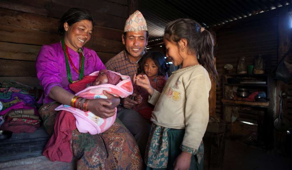 Family featured in our Neighbour to Nepal appeal