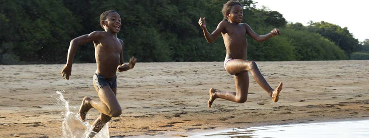 Brazil Children Jumping