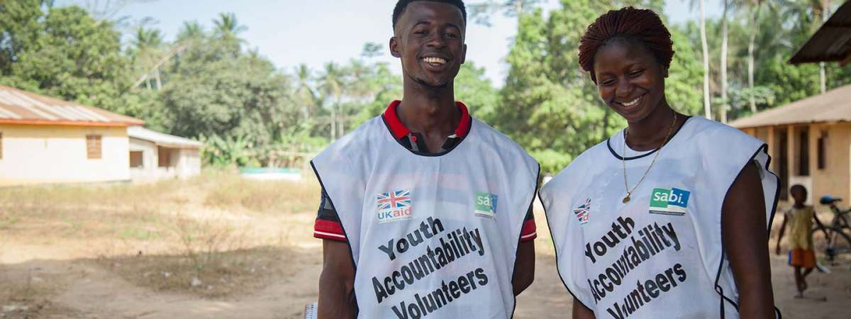 SABI Sierra Leone programme youth accountability volunteers