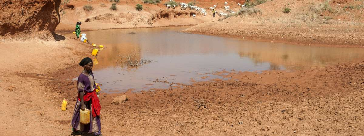 Dried lake in Ethiopia