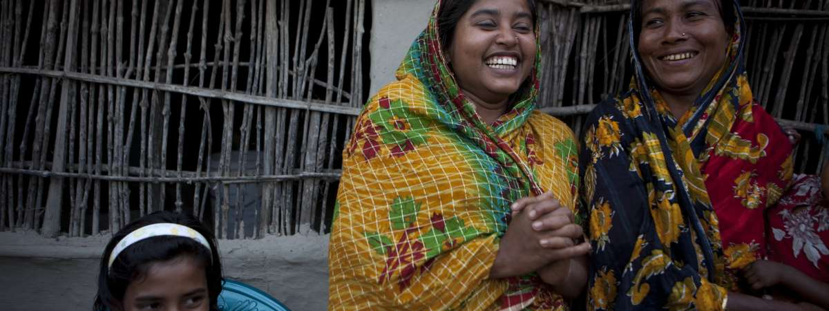 Women smiling, Bangladesh