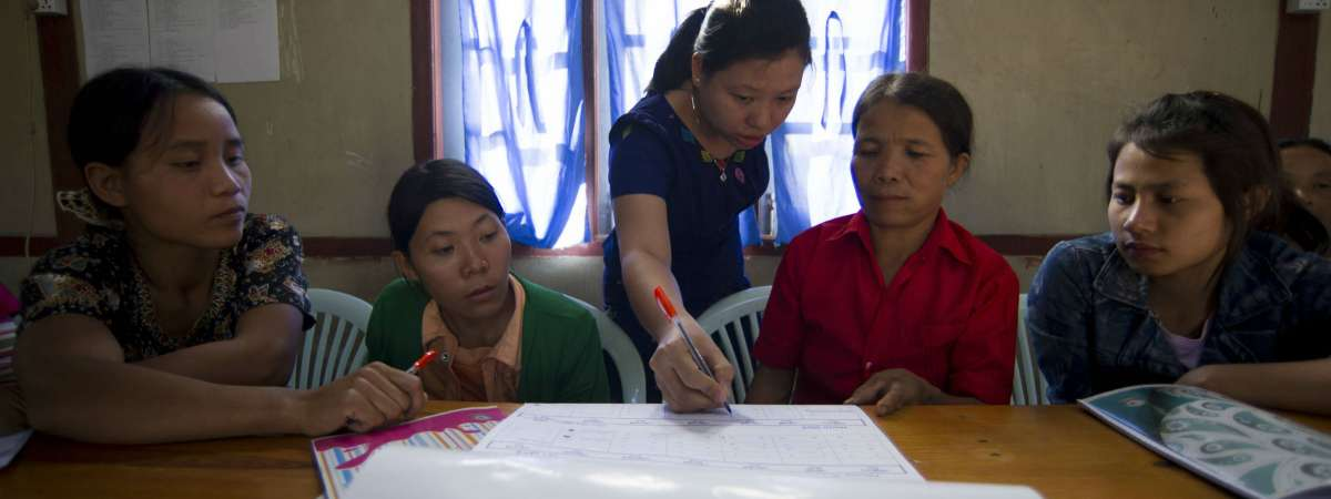 Women in traning session Myanmar