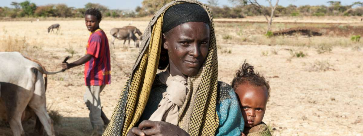 Ethiopian woman with baby