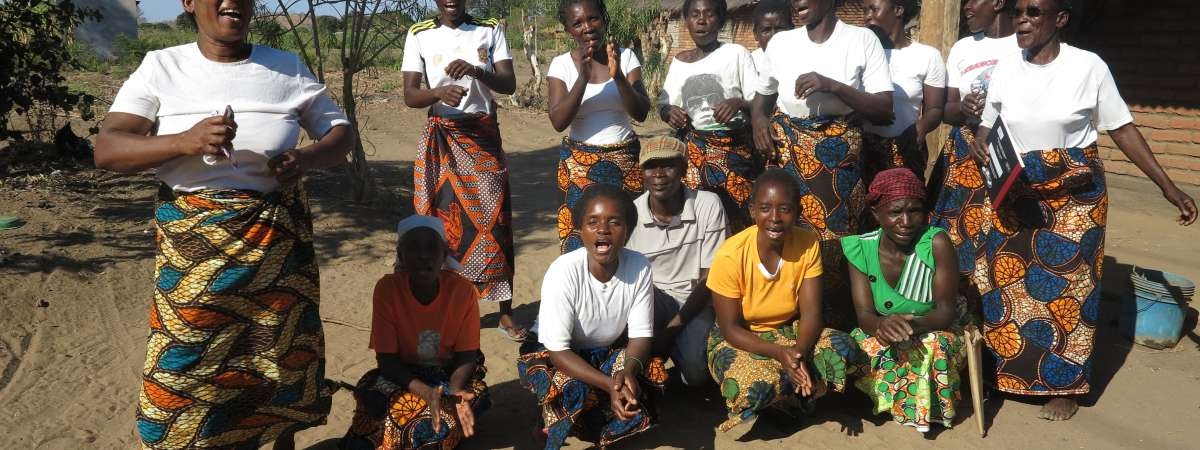 A group of women in Malawi involved with the Investing for Impact programme