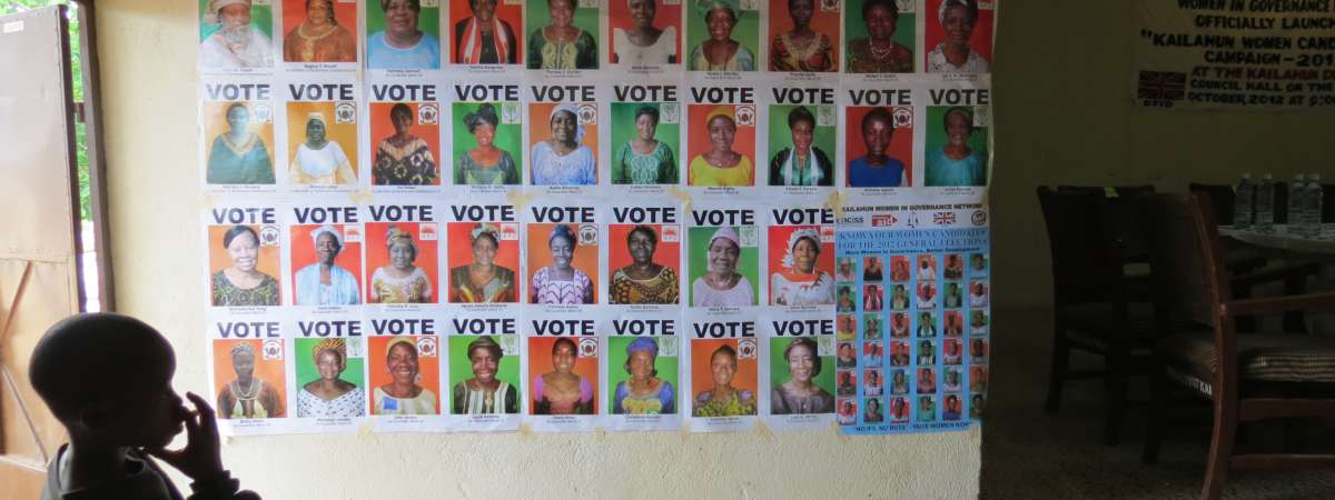 Sierra Leone 2012 Election posters