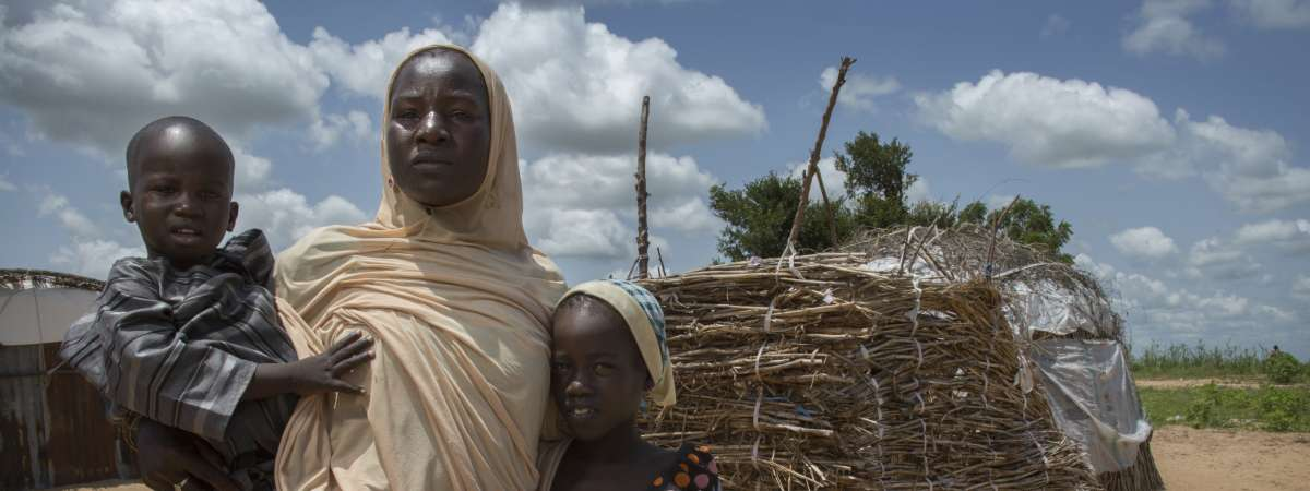Displaced family in Nigeria - Christian Aid