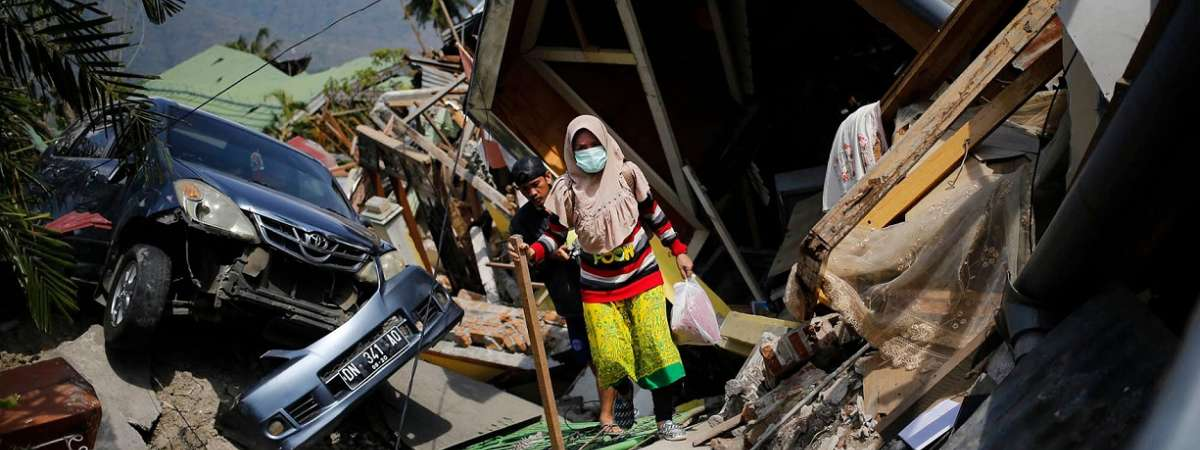 In the wreckage of the Indonesia tsunami