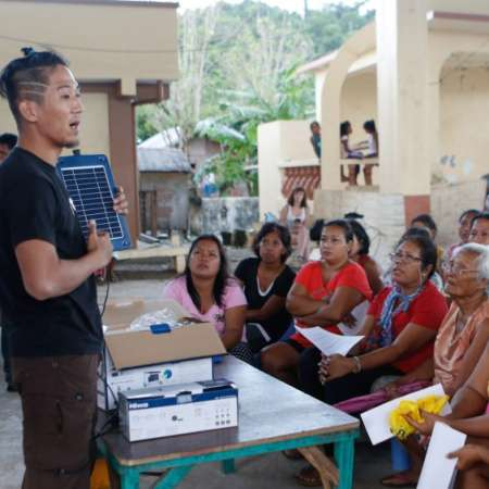 Solar scholars learning in a classroom in the Philippines