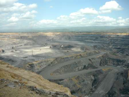 An aerial view of Cerrejon Mine in Colombia