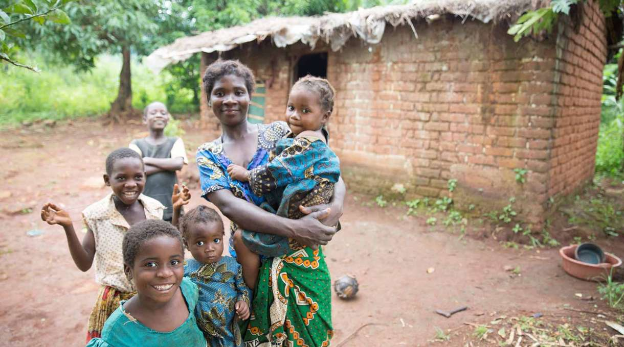 Village life in Katute, Malawi, helped by the Christian Aid-led resilience programme ECRP.