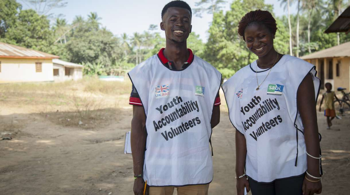 SABI Sierra Leone youth accountability volunteers