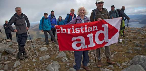 Supporters in Scotland take part in a challenge event for Christian Aid