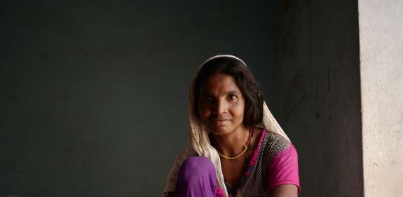 Ranjita uses her sewing machine to help lift her family out of poverty.