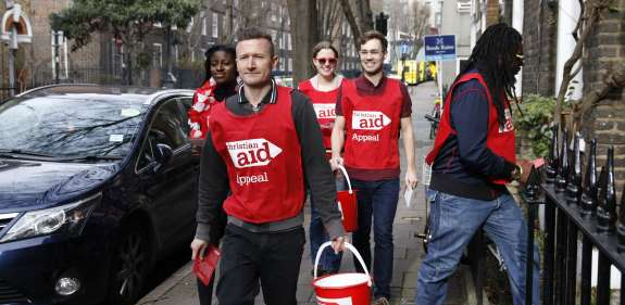 Christian Aid Week collectors going house to house.