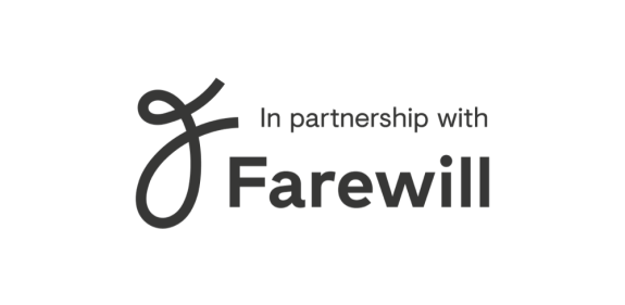"Logo of ""In Partnership with Farewill"""