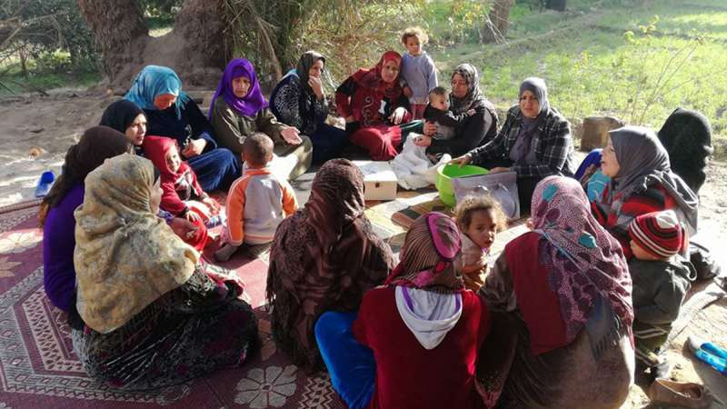 Women, including Randa, in Minya Governorate in Egypt, meet as part of the savings groups.