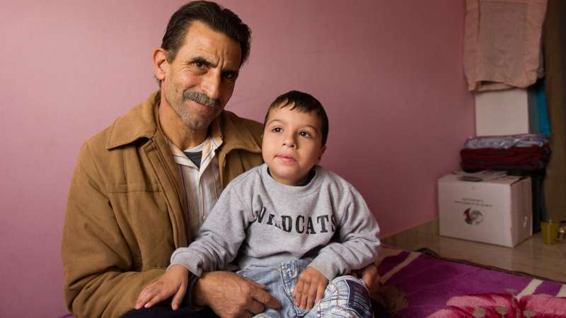 Lebanon Father with Disabled Son