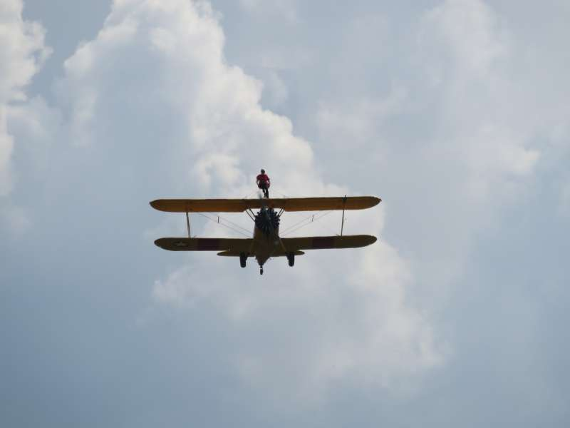 Lesley took part in a sponsored wingwalk for Christian Aid