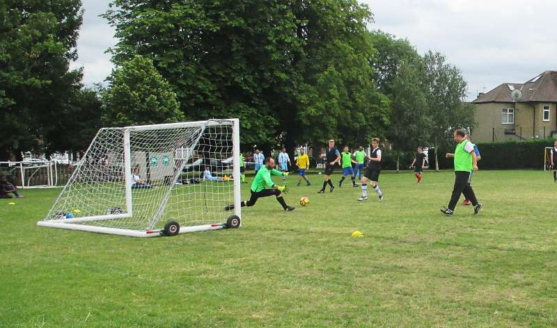 A five-a-side football game by St. Paul's church Winchmore Hill in aid of Christian Aid's Refugee Crisis Appeal