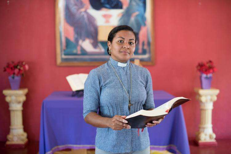 Reverend Elineide who supports victims of gender-based violence in Brazil