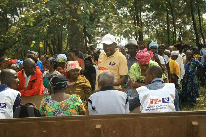 Cash distribution in Beni, DRC