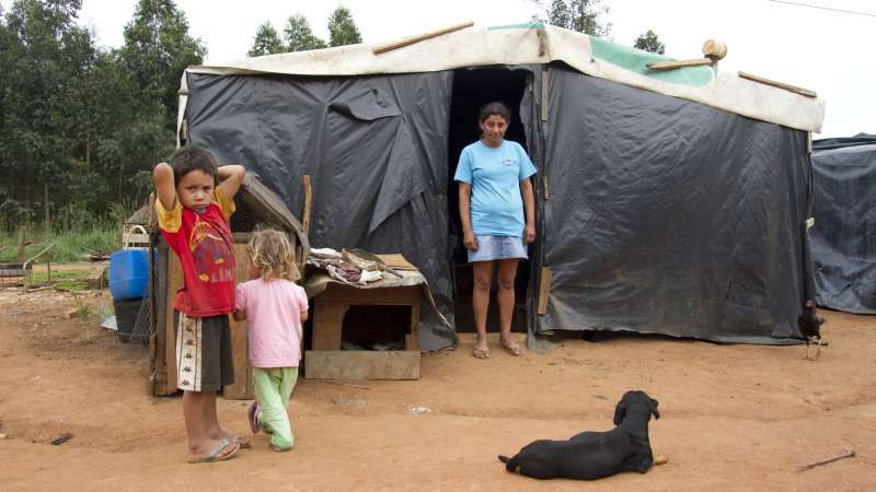 Jocenilia in temporary shelter Brazil Christian Aid