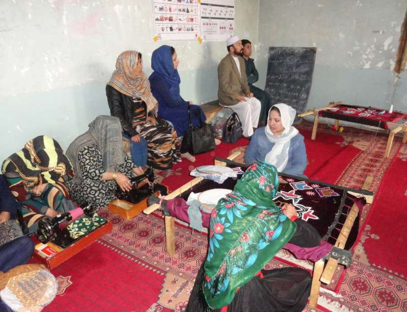 Inmates at the women's prison in Faryab Province are learning new skills through literacy and tailoring classes, supported by our partner Afghan Development Association (ADA).