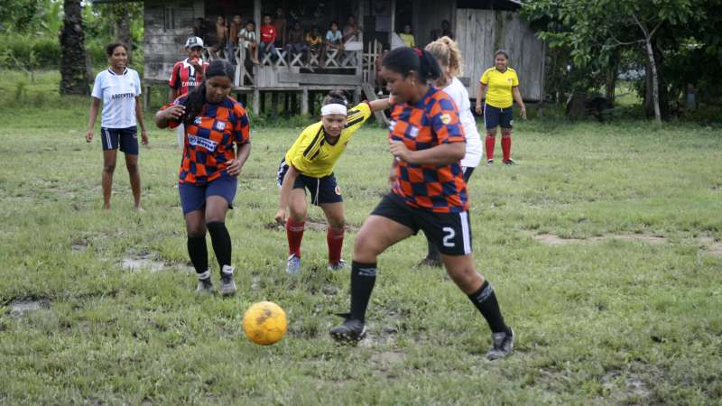 Women playing football in Colombia Christian Aid