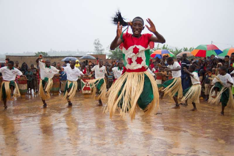 A traditional dance in Burundi for International Women's Day Christian Aid