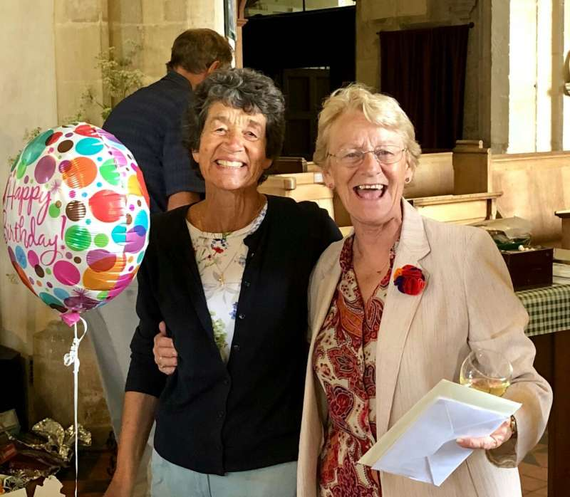Libbie and Sandra - Hosted a joint Birthday for all of Purton
