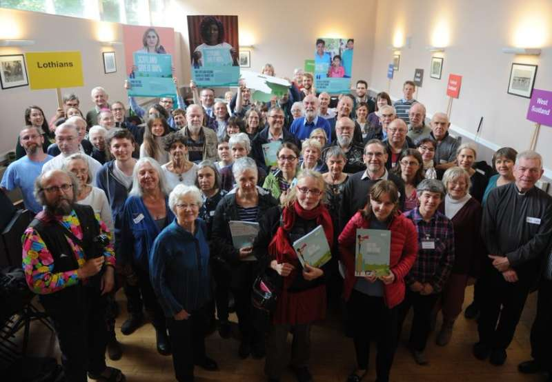 scottish mass lobby campaigners