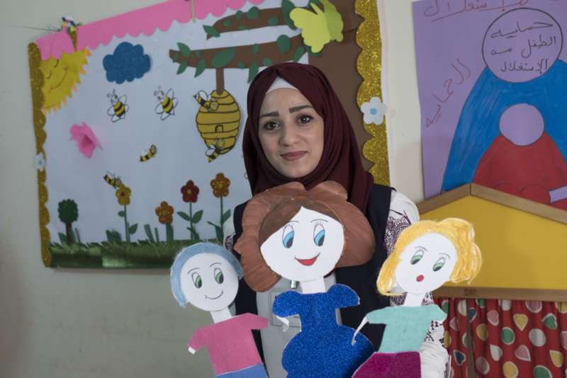 Fedaa lives in the camp and attended the Najdeh kindergarten as a child.