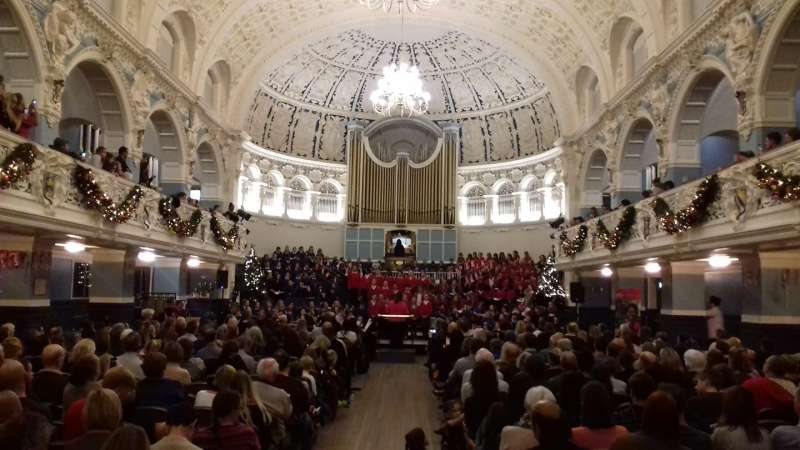 Big Christmas Sing in Oxford Town Hall