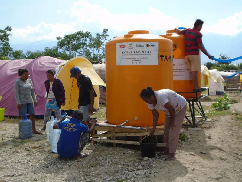 In Tondo, earthquake survivors can now access clean water, delivered by CWS