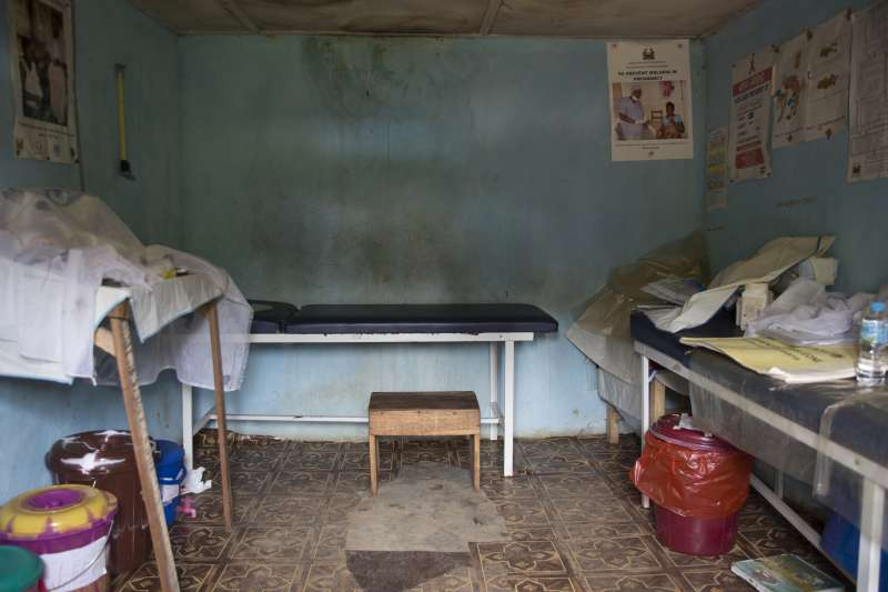 The health centre in Sawula village is poorly equipped