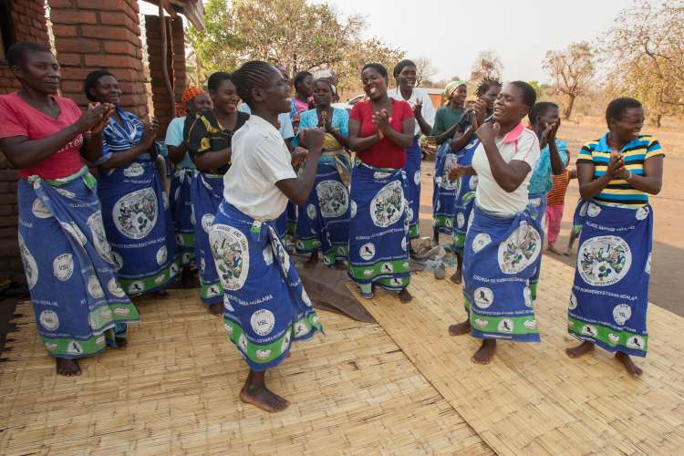 A village savings and loans group in Malawi