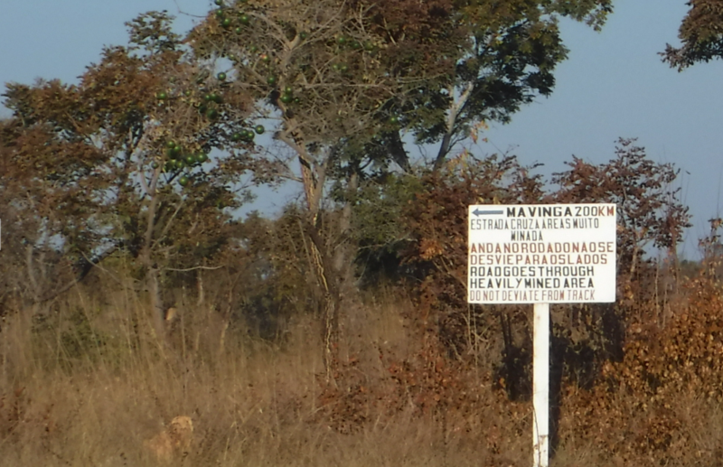 Even today, the only road to Mavinga still passes through heavily mined territory.