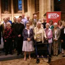 Bishop of Chichester, Martin Warner with Sussex Christian Aid Week supporters