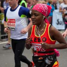 Lebo, Christian Aid London Marathon runner